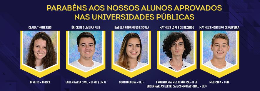 Aprovados universidades públicas 2018