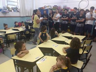 Alunos do 3º ano do Ensino Médio participam do Circuito de Relaxamento Enem