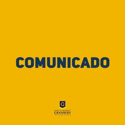 Comunicado - Suspensão das aulas