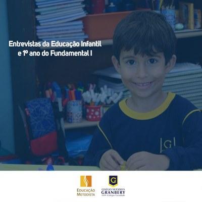Cronograma das entrevistas da Educação Infantil e 1º ano Fundamental I
