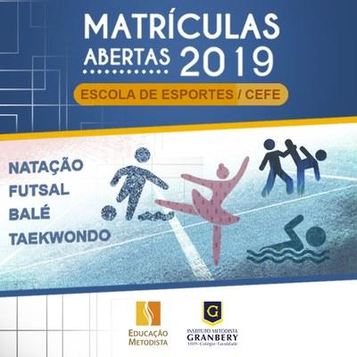 Escola de Esportes/CEFE está com matrículas abertas para 2019