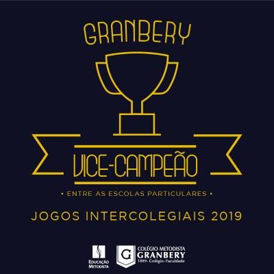 Granbery é vice-campeão nos Jogos Intercolegiais 2019 entre as escolas particulares