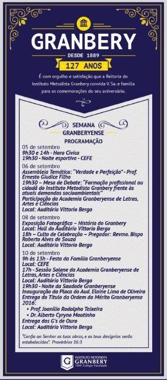 Convite Semana Granberyense