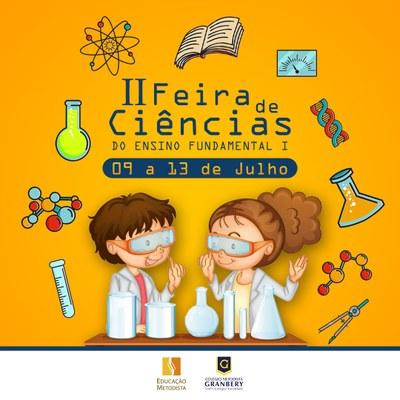 ll Feira de Ciências do Fundamental I inicia na próxima segunda