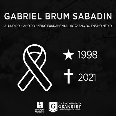 Nota de Falecimento: Granberyense, Gabriel Brum Sabadin