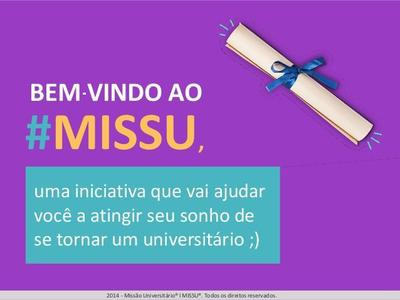 MISSU - Plataforma On-line