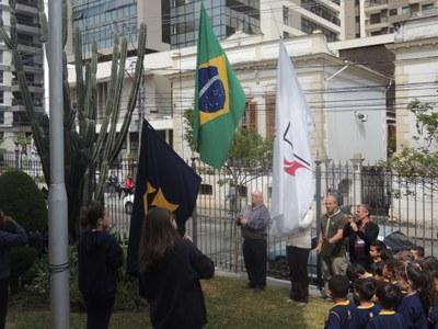 Semana Granberyense inicia atividades com Hora Cívica e Culto de Gratidão